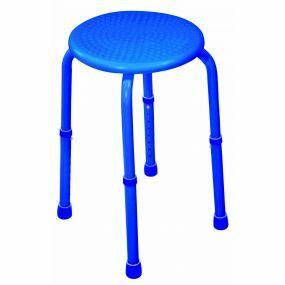 Multi-Purpose Aluminium Adjustable Shower Stool - Blue
