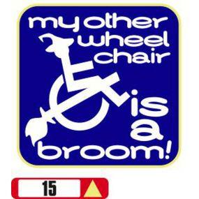 Sticker Haus My Other Wheelchair Is A Broom sticker no 15