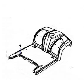 Invacare Orion - Replacement Front Shroud 4 Wheeler - Blue