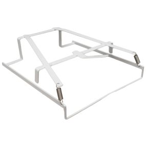 Height Adjustable Drop Arm Mobile Commode - Perfection Pan Rack