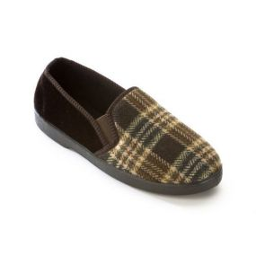 Slippers - Peter Size 8 (Brown)