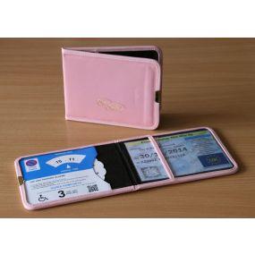 Plastic Blue Badge & Timer Wallet - Pink