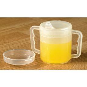 Plastic Two Handled Mug (Twin Pack)