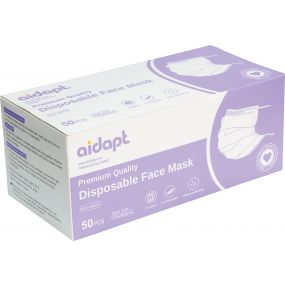 Premium Disposable Face Masks - Box of 50