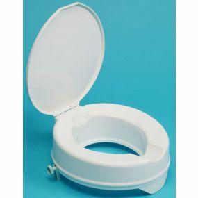 Prima Raised Toilet Seat - With Lid - 4