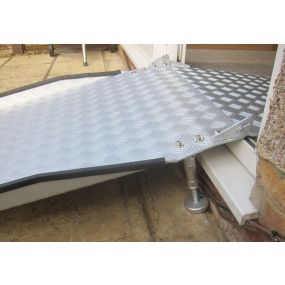 PVC Threshold Ramp Kit With Internal Flip Plate