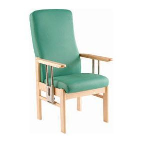 Perry High Back High Seat Drop Arm Chair