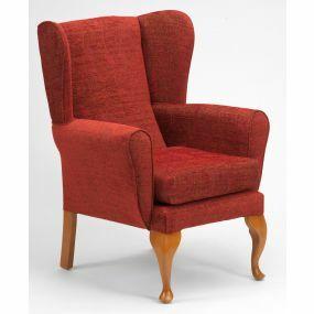 Queen Anne Fireside Chair - Crimson