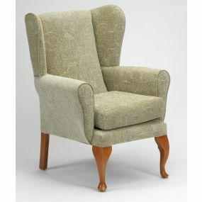 Queen Anne Fireside Chair - Sage