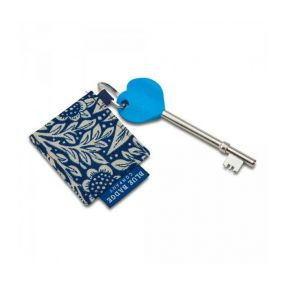 Radar Key & William Morris Marigold Indigo Keyring