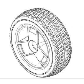 Pride GoGo Sport - Rear Wheel & Tyre Assembly