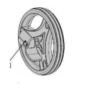 X Fold Rollator -  Rear Wheel Inc Stepper Tube Left Side