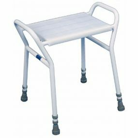Rectangular Shower Stool With Plastic Seat