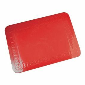 Tenura Silicone Rubber Anti Slip Rectangular Mat (25.5x18.5 cm) Red