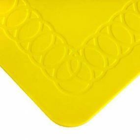 Tenura Silicone Rubber Anti Slip Rectangular Mat (25.5x18.5 cm) Yellow