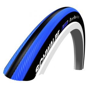 Schwalbe - RightRun Coloured Wheelchair Tyres - Blue/Black, Size: 24 x 1 (25-540)
