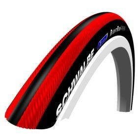 Schwalbe - RightRun Coloured Wheelchair Tyres - Red/Black, Size: 24 x 1 (25-540)