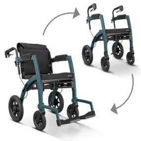 Rollz Performance 2 In 1 Rollator and Wheelchair