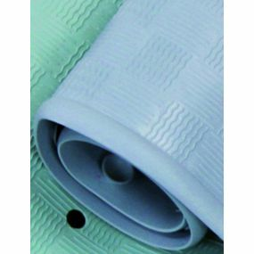 Traditional Rubber Bath Mat - Blue (34x74cm)