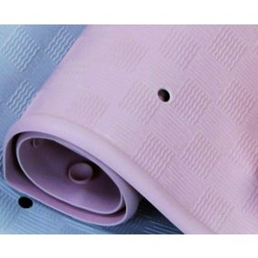 Traditional Rubber Bath Mat - Pink (34x74cm)