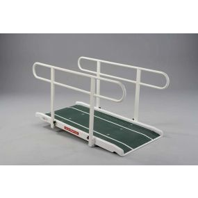 Standard One Piece Fibre Glass Ramp With Double Handrails