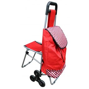 Shopping Trolley With Fold Down Seat