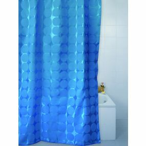 Patterned Polyester Shower Curtains - Cobalt Sphere (180 x 180cm)