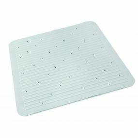 Supreme Heavyweight Rubber Shower Mat - White (55x55cm)