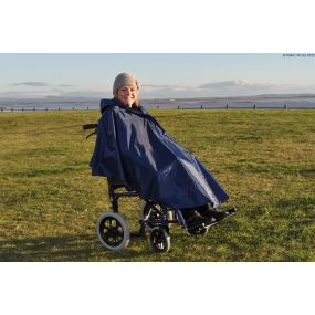 Splash Deluxe Lined Unsleeved Wheelchair Poncho