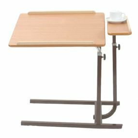 Split Level Overbed Top Table - Static (Brown)