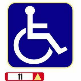 Sticker Haus Disabled symbol sticker no 11