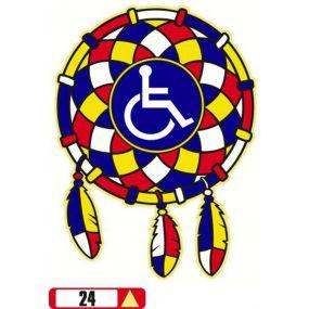 Sticker Haus Disabled Dreamcatcher graphical sticker no 24
