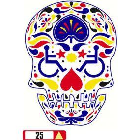 Sticker Haus Disabled Skull graphical sticker no 25