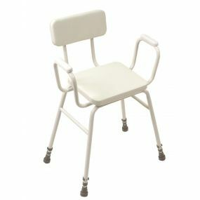 Malling Perching Stool - Perching Stool With Upholstered Arms & Upholstered Back