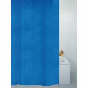 Textile Stripe Shower Curtain - Blue (180x180cm)