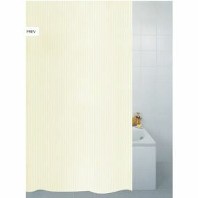 Textile Stripe Shower Curtain - Cream (180x180cm)