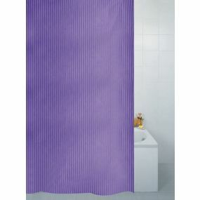 Textile Stripe Shower Curtain - Plum (180x180cm)
