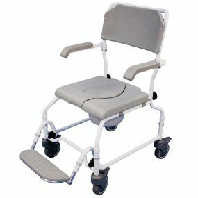 The Bewl Attendant Adjustable Height Shower Chair (Single Foot Plate)