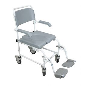 The Bewl Attendant Fixed Height Shower Chair (Swing Away Foot Plates)
