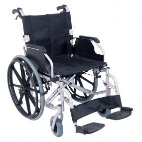 Deluxe Self Propelled Steel Wheelchair - Silver