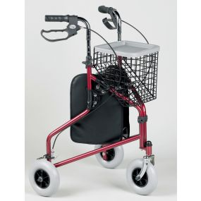 Three Wheeled Tri-Walker (Cable Brakes) - Ruby