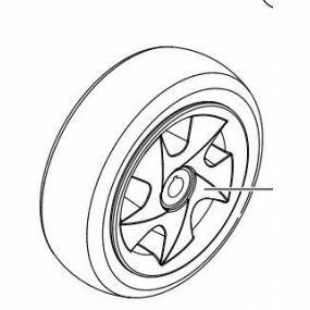 Invacare Leo _ Rear Wheel Assembly 3.00x4