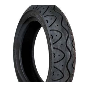 Black Pneumatic Scallop 90/80 x 8 Tyre (UN502A)