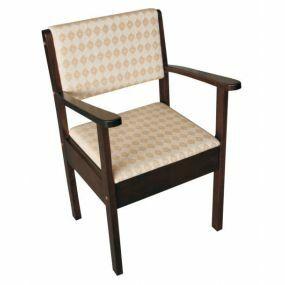Upholstered Commode - Dark Wood