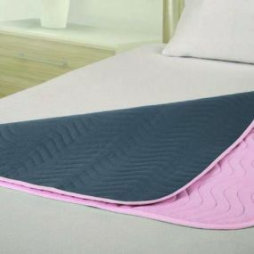 Vida Washable Bed Pad - 70x90cm (Pink) Midi