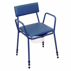 Standard Adjustable Height Commode (Assembled) - Blue