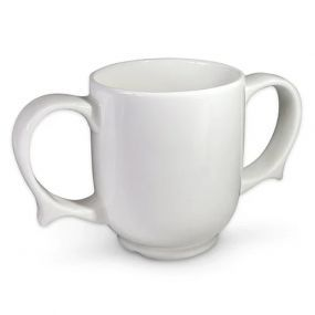 Wade Dignity Two Handled Mug - White