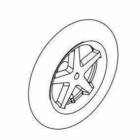 Rear Wheel Pneumatic Tyre And Tube (5 spoke)