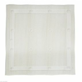 Antimicrobial Slip Resistant Shower Mat - White