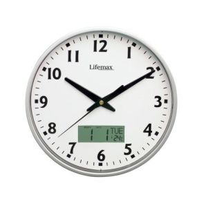 Wall Clock With Temperature & Date Display